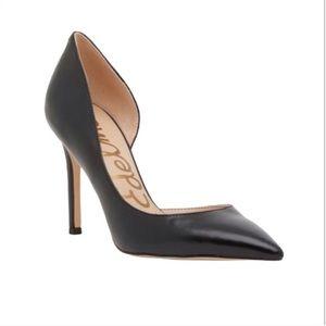 SAM EDELMAN • Hensen Half D'Orsay Leather Heel 6.5